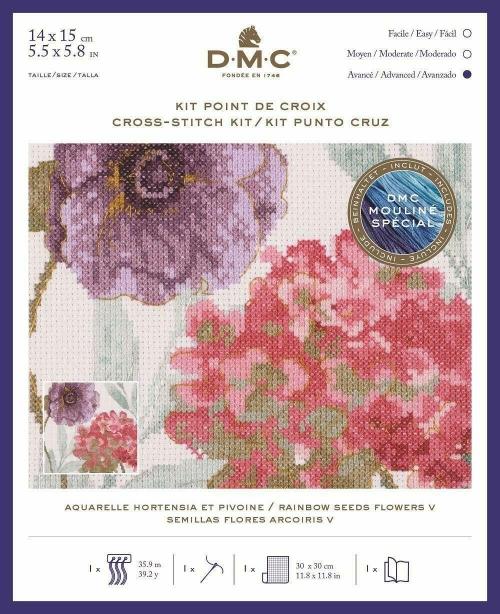 Dmc BL1168/76 - Радуга семена цветы V-набор для вышивания крестом