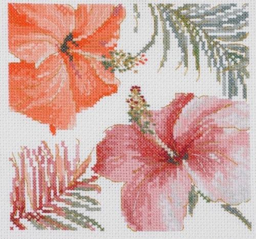 Dmc BL1169/76 тропические румяна III цветы набор для вышивания крестиком