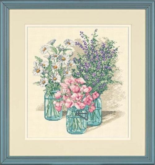 "Вышивка Dimensions ""35122 Трио полевых цветов (Wildflower Trio)"""