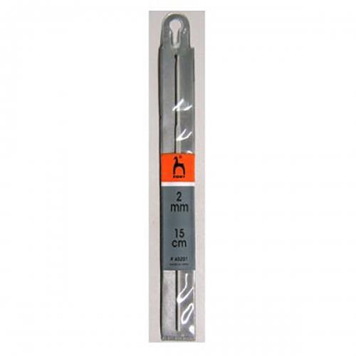 45201 Крючок вязальный 2,00 мм/ 15 см, алюминий