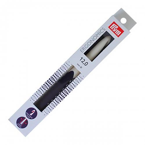 218493 Крючок для вязания, пластик, эргономик, 12мм х 18см