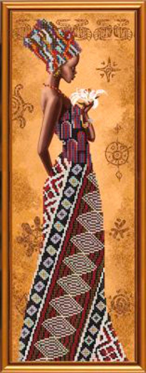 Африканка с лилией
