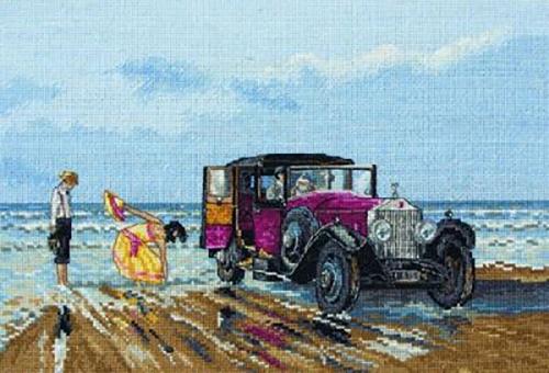 Винтажное авто на пляже