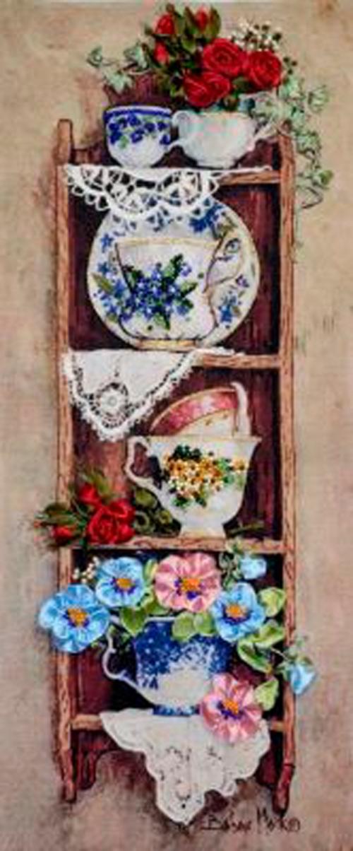 Полочка с цветами