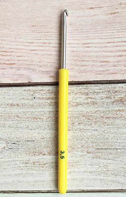 Крючок вяз. 0332-6000 3.5мм, пласт. ручка