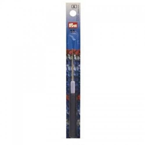 175323 Крючок для тонкой пряжи с пластиковой ручкой и колпачком, сталь 1,0 мм