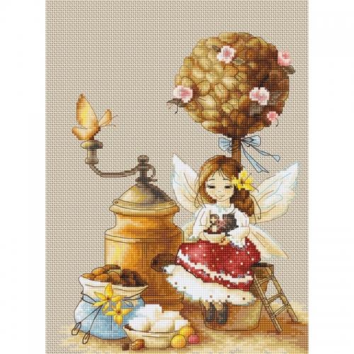 B1132 Кофейная фея. Luca-S. Набор для вышивания нитками