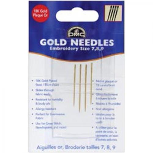 DMC Золотые иглы для вышивания, размер 7 8 9 4 / Pkg 6133 (6 шт)