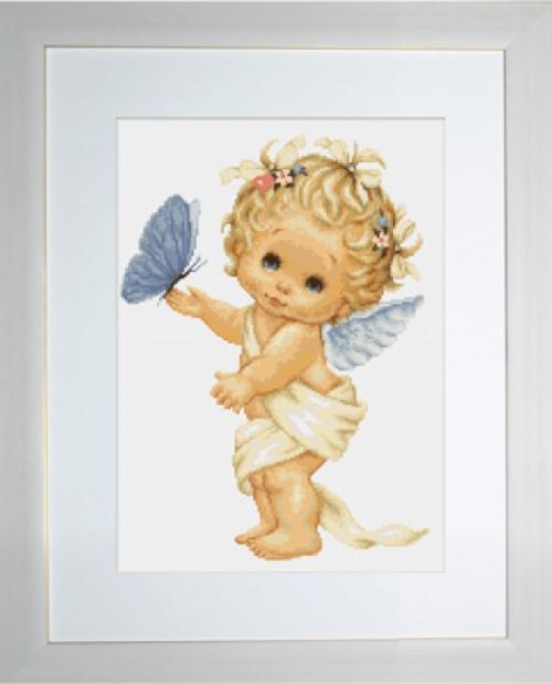 Ангелочек с бабочкой
