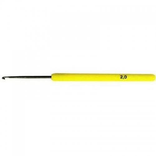 Крючок вяз. 0332-6000 2,0мм, пласт. ручка