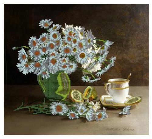 Ромашки с чаем и лимоном