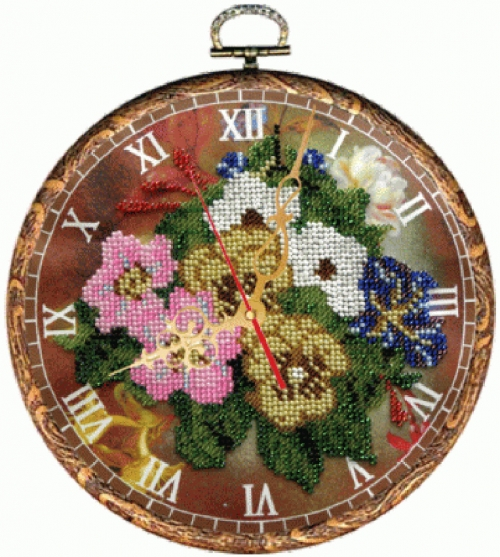 Часы Букет
