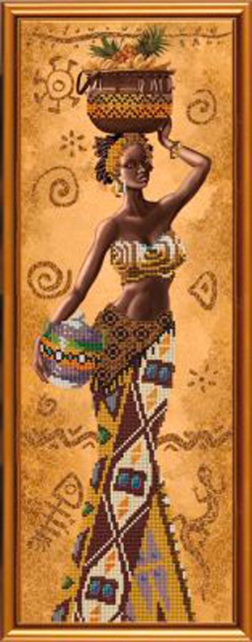 Африканка с фруктами