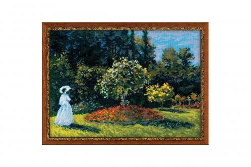 """""""Дама в саду"""" по мотивам картины К. Моне"""