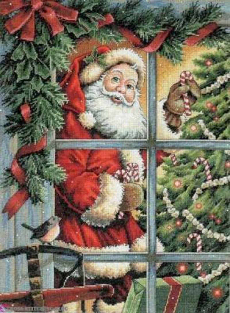 """Набор для вышивания """"8734 Санта и леденец (Candy Cane Santa)"""""""