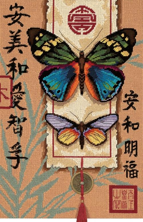 "Вышивка Dimensions ""20065 Азиатские бабочки (Asian Butterflies)"""