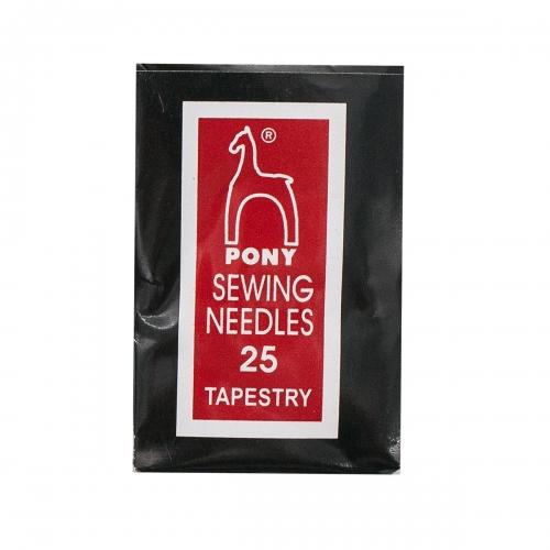 05163 Иглы для гобелена и трикотажа №25, упак./25 шт., PONY