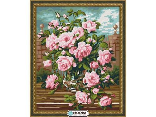 """Картина по номерам """"Розовый букет"""" 7С-0158"""