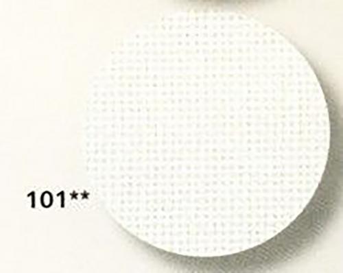 1235 LINDA (100% хлопок), col 101-белый.шир.140, 27 ct-107кл/10см
