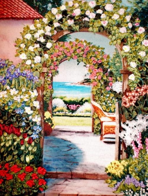 """Вышивка лентами """"Цветочная арка"""" 020-100"""
