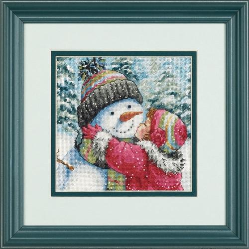 """Вышивка """"Поцелуй для снеговика"""" 8833"""
