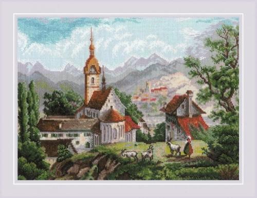 """""""Монастырь Шоненверт"""" по мотивам гравюр ХIХ века"""