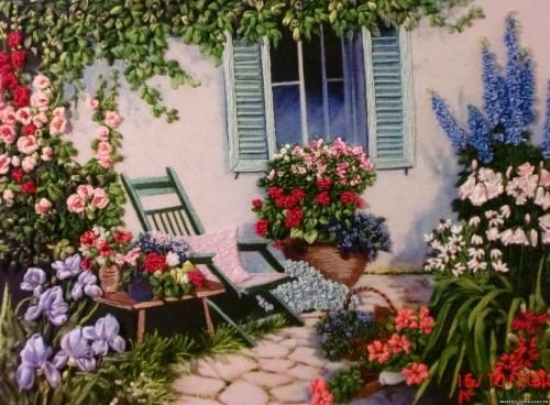 "Вышивка лентами ""Сад под окном"" 002-100"