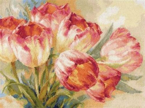 """Вышивка """"Тюльпаны"""" 2-29"""