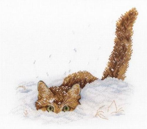 """Вышивка """"Кот в снегу"""" НВ-557"""