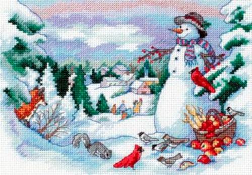 """Вышивка """"Друзья снеговика"""" 4376 Classic Design"""