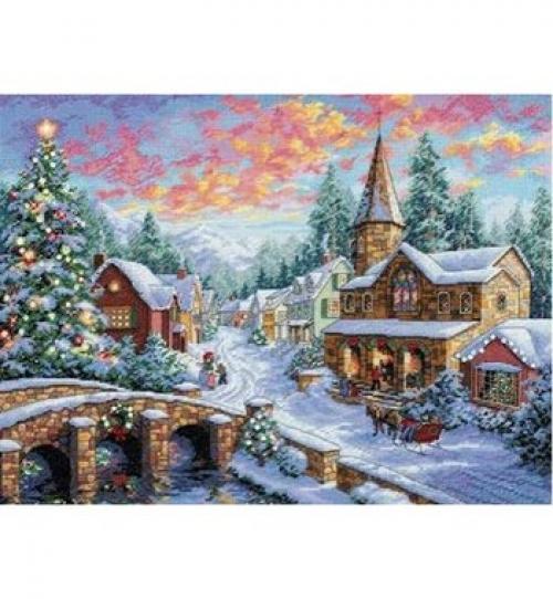 """""""Рождественский дом"""" - набор для вышивания крестом 8783"""
