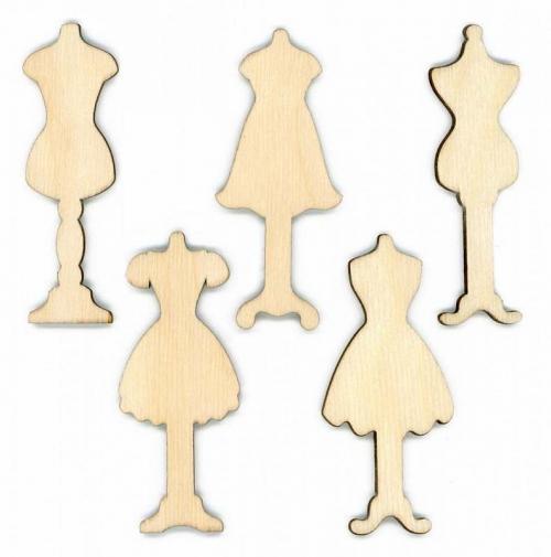 Бобины для ниток «Манекены» набор 10 штук (5 видов по 2 штуки)