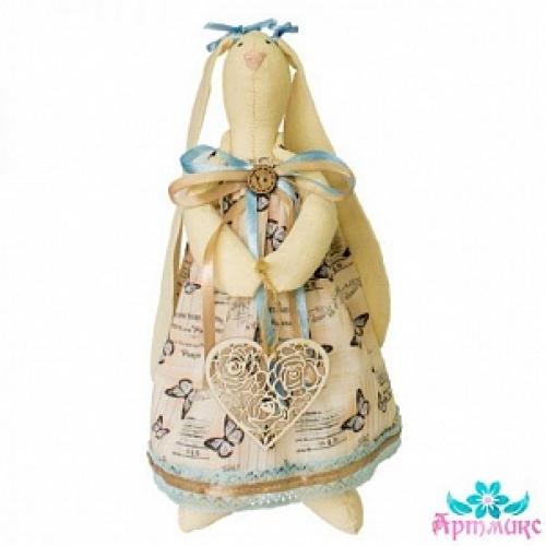 """Набор для изготовления текстильной игрушки """"Зайка Анжелика"""""""