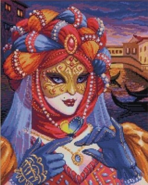 """Алмазная вышивка """"Венецианская дама"""" АЖ-1586"""