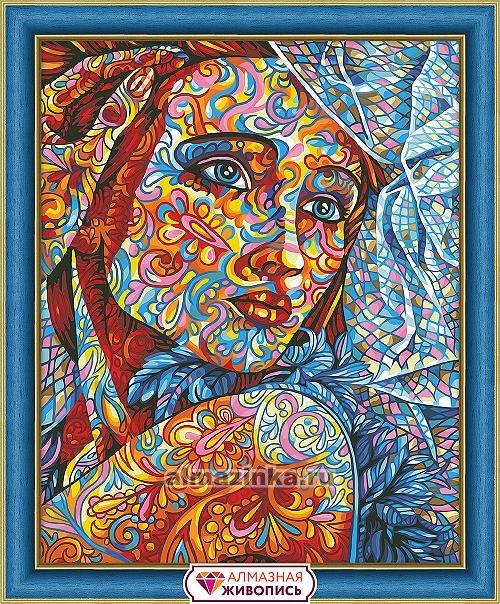 """Алмазная вышивка """"Витражный портрет"""" АЖ-1599"""