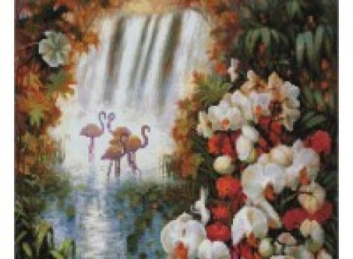 Алмазная вышивка Райский сад