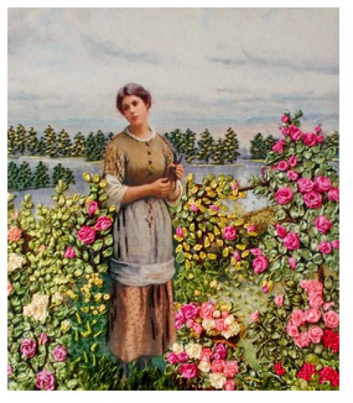 "Вышивка лентами ""Аромат роз"" 017-100"