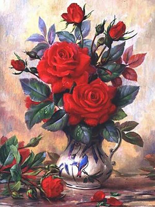 Картина стразами Прекрасные розы АЖ-1349