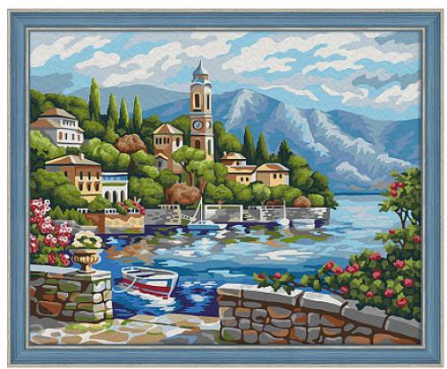 """Картина по номерам """"Часовня у моря"""" 7С-0169"""